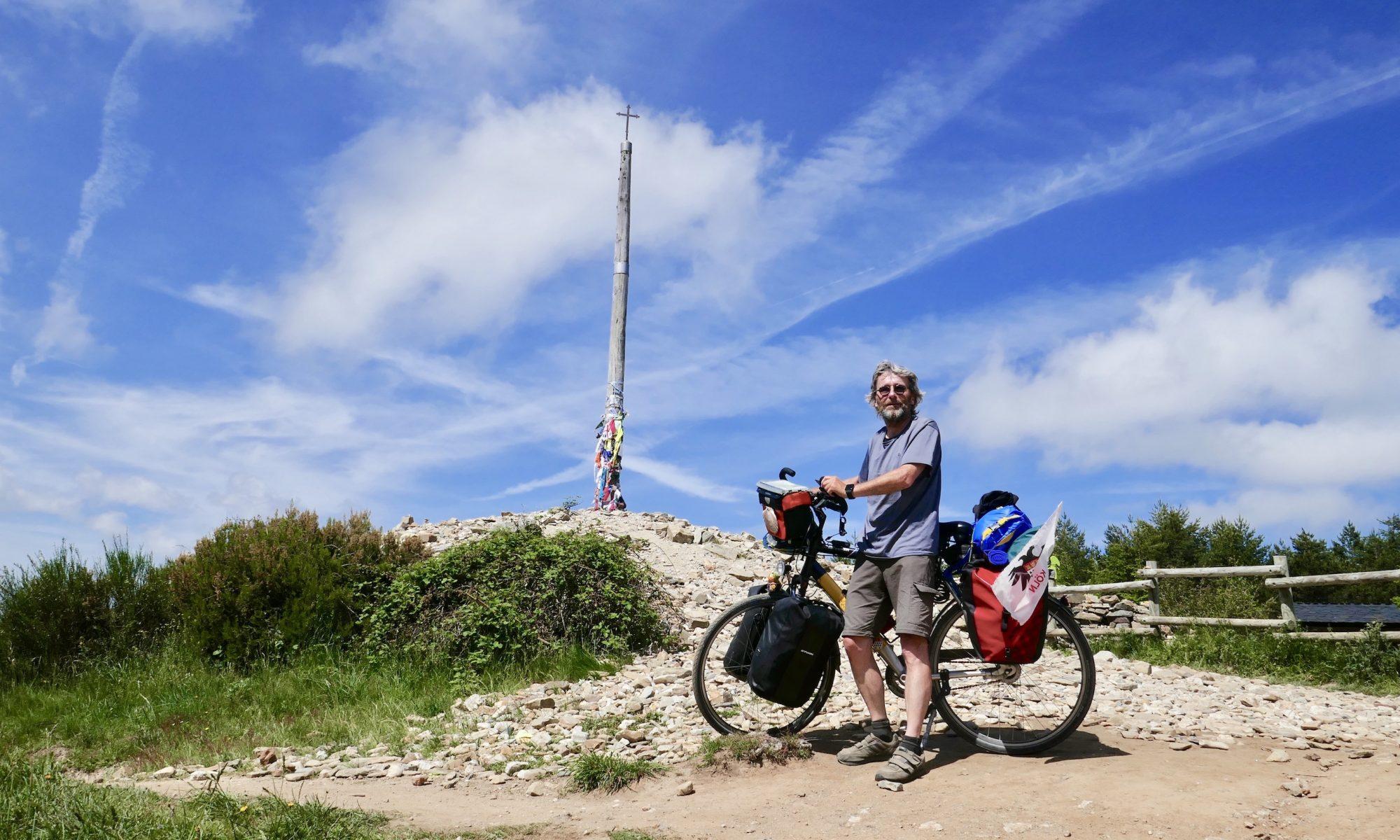 Hans Körner mit seinem Fahrrad